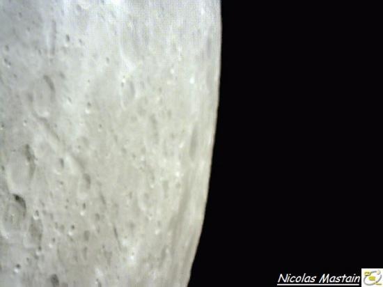 Extrême bord de la pleine Lune (photo Nicolas Mastain - O.E.L)
