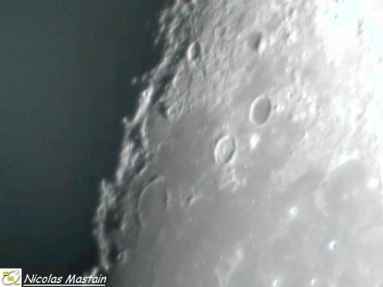 Détail lunaire près du terminateur (photo Nicolas Mastain - O.E.L)