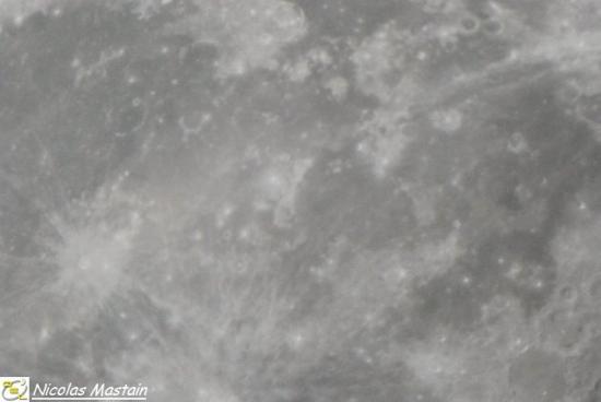 Le cratère Kepler et ses environs (photo Nicolas Mastain - O.E.L)